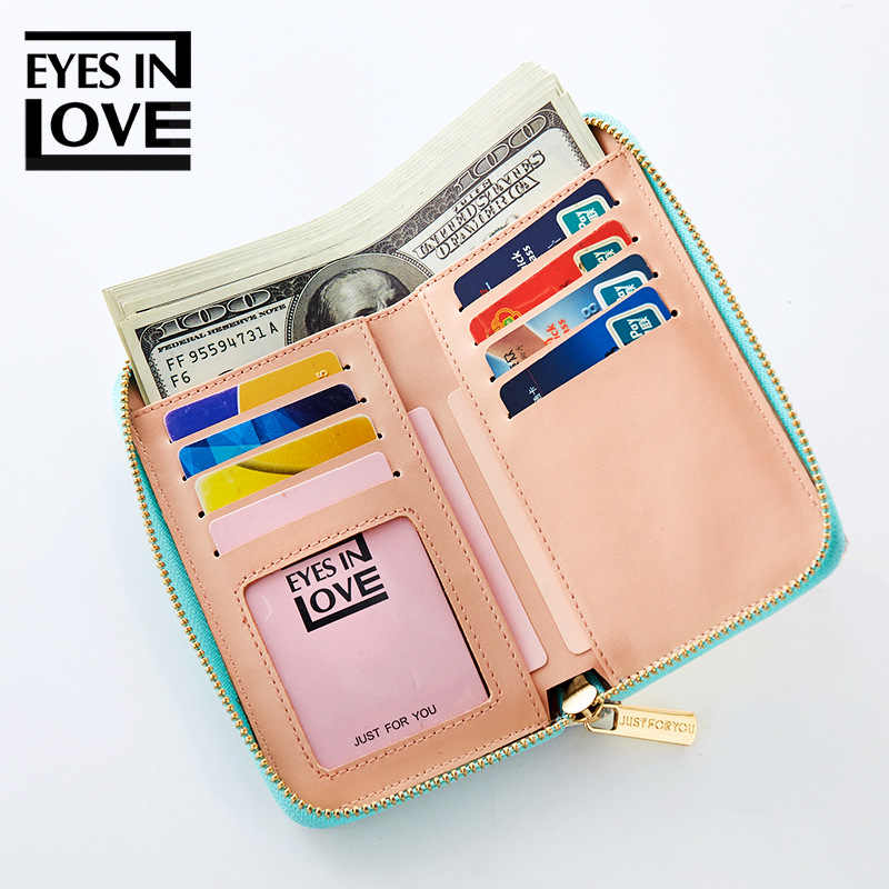 Eyesinlove 2018 новый лазерный голографический кошелек Для женщин кошелек женская сумка-клатч Для женщин кошельки карман на молнии для монет кошелек Carteras бу