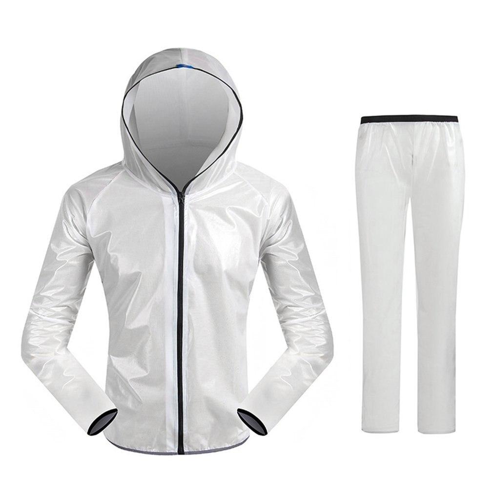 Unisex Super Light Hooded Split Sport Clothes Waterproof Raincoat Riding Mountain Bicycle Bike Cycling Rain Suit Jerseys