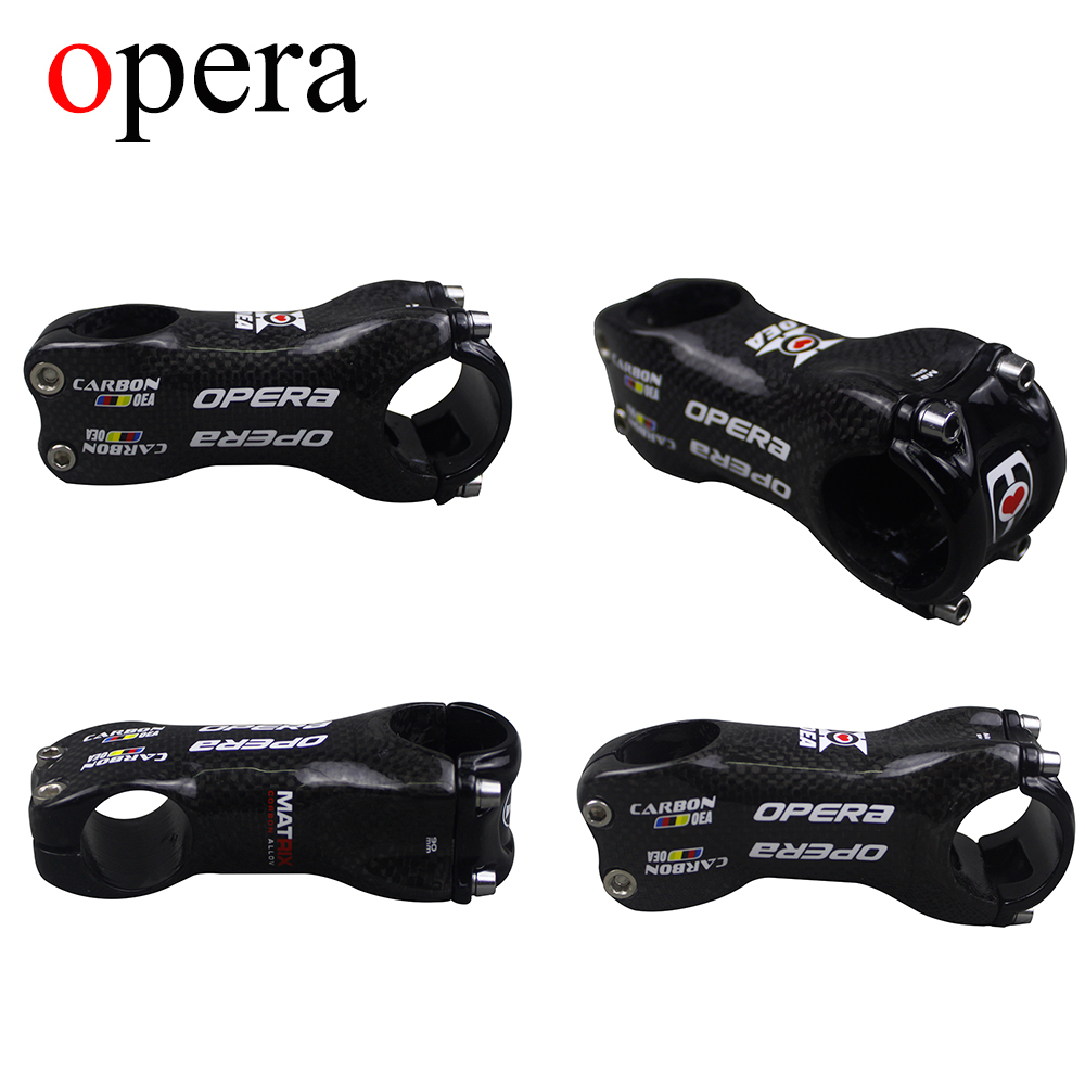 OPERA Carbon Stem Bike Road / MTB Stem 6/17 Degree Angle 70/80/90/100/110/120mm 3 K Mate Carbon Stem Free shipping aluminum carbon fiber bicycle stem road mountain bike stem mtb 6 17 degree 31 8 60 70 80 90 100 110 120mm bicicleta parts