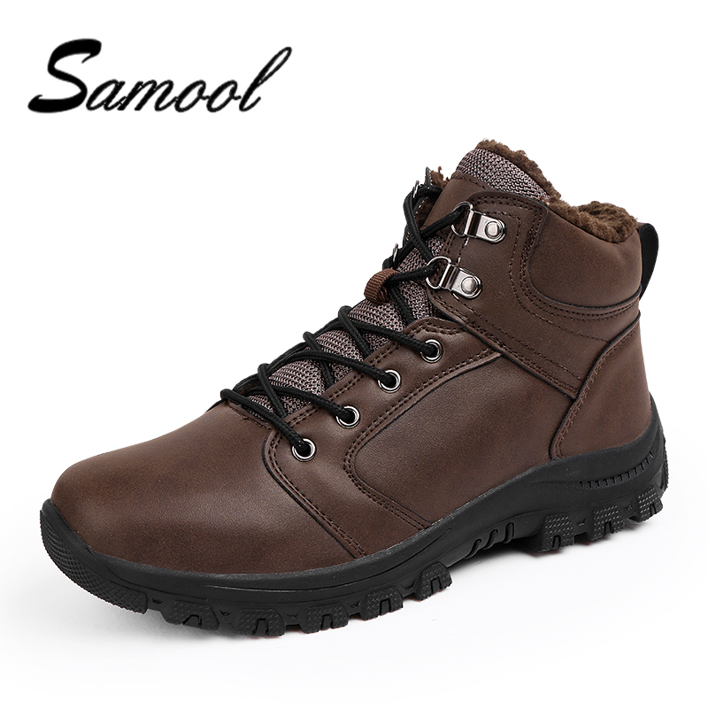 Super Warm Winter Men Boots Genuine Leather Boots Men Winter Shoes Men Military Fur Boots For Men Shoes Zapatos Hombre DX5 winter martin military boots men shoes leather men boots brand fur boots for men autumn winter shoes zapatos hombre size 38 48
