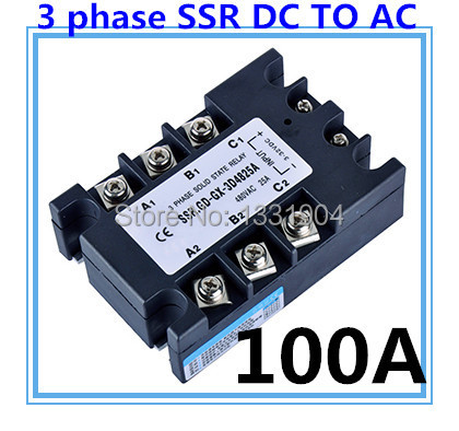 good quality DC to AC SSR-3P-100 DA 100A SSR relay input DC 3-32V output AC480V Three phase solid state relay цены онлайн