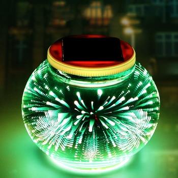Солнечный светодиодный свет уличные садовые фонари водонепроницаемый Солнечный 3D художественный свет для праздника рождественской вечер...