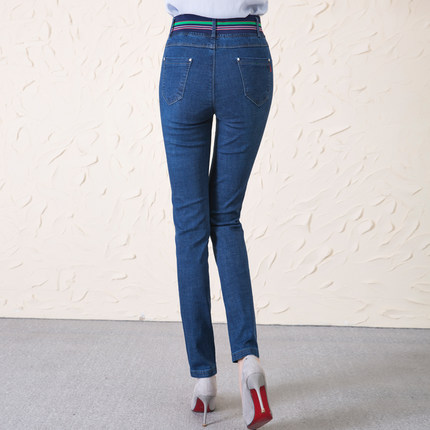 Inverno Pantaloni A Era 1 Sottile Abbigliamento Modo Delle E Di Autunno Alta Donne Dimensioni Vita Nuovo Grandi Stirata Jeans S7HXwxgq7
