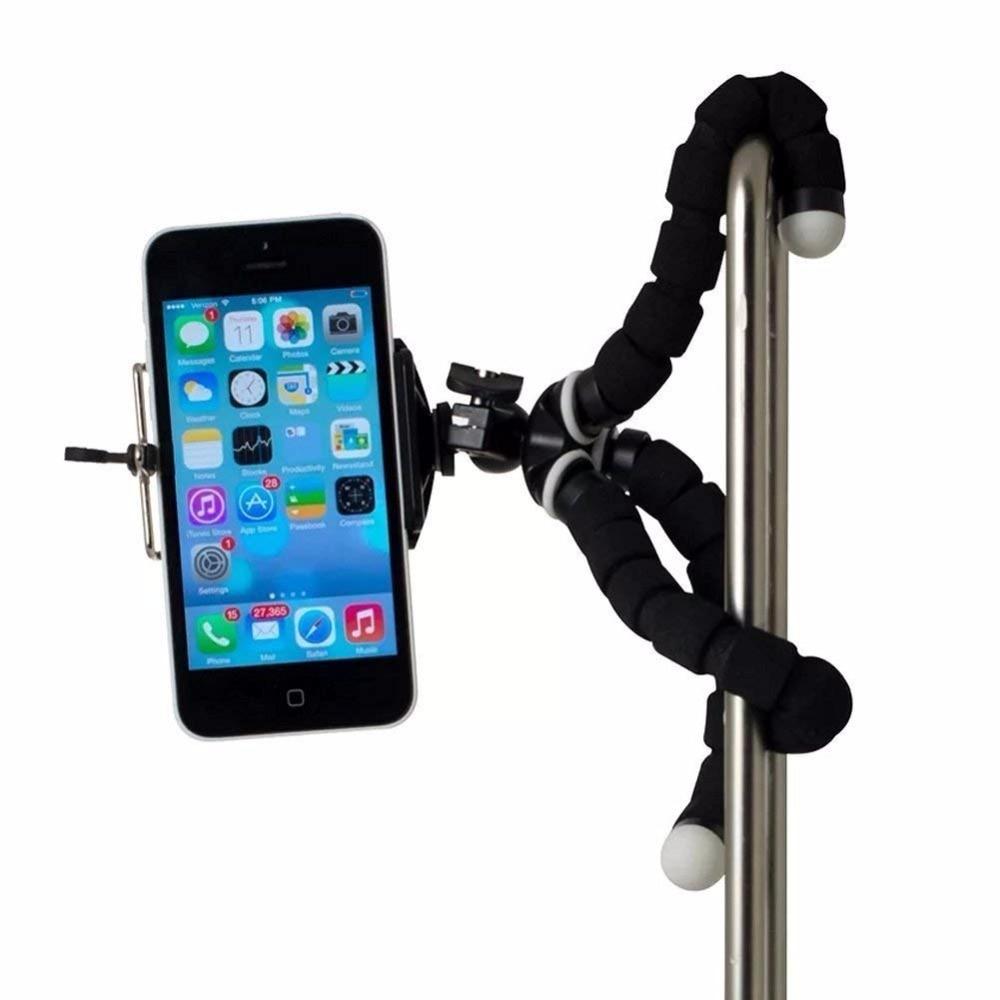 JCKEL Mini Flexible Sponge Octopus Tripod For iPhone Xiaomi Huawei Smartphone Tripod for Gopro Camera Accessory With Phone Clip