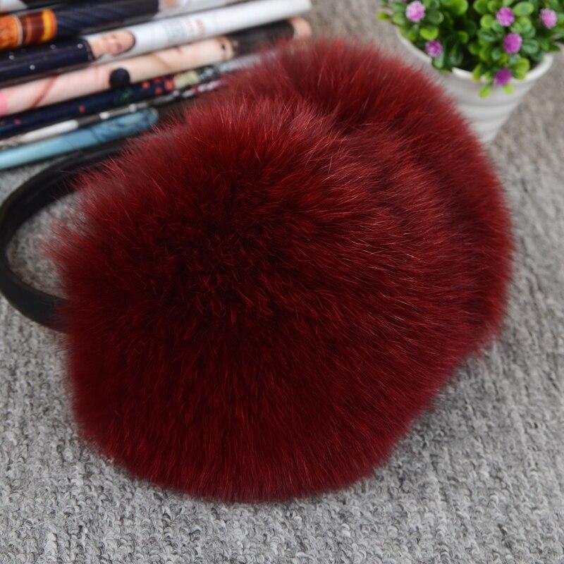 Verstelbaar !!! Elegante vossenbont Winter oorbeschermers voor - Kledingaccessoires - Foto 4