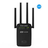 PIXLINK AC1200 WIFI Repeater Router Access Point AP Wireless Range Extender Wifi Signal Amplifier With External