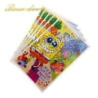500 sztuk/lotSponge Theme Strona Gift Bag Party Dekoracje Plastikowe Cukierki Torba Loot Bag Dla Kids Festival Party Supplies