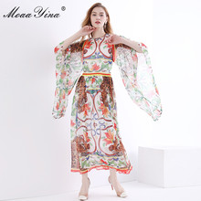 75233bab044d8 Moaayina high quality fashion designer runway dress spring women ...