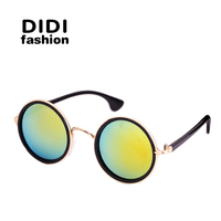 2015 Women Brand Designer Binding Vintage Round Sunglasses Free Box UV Protection Circle Glasses Oculos De
