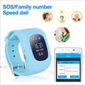 Q50 Дети Мониторинга Безопасности Портативный GPS Интеллектуальные Часы-Телефон Трекер Часы Наручные ремень Ребенка Английская Версия 2 Г SIM