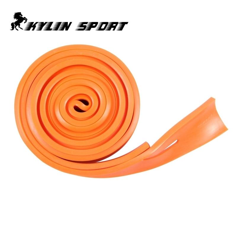 2,5m Oranje weerstandsband Platte rubberen band rubberen band 2,5 - Fitness en bodybuilding