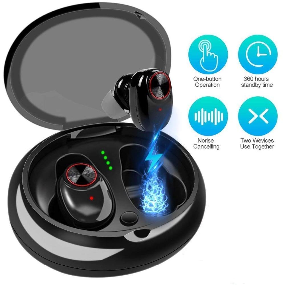 Sago наушники Bluetooth 5,0 True спортивные 3D стерео IPX65 пот доказательство наушники с микрофоном для IphonX XS XMS