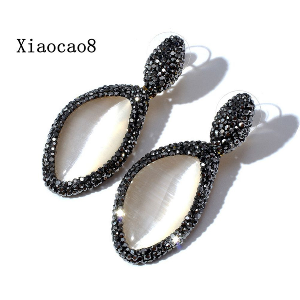 YNB New Arrival Women Rhinestone Earrings High Quality Nature Stone Semi-Precious Stone Earrings for Women Luxry Jewelry Gift pair of stunning rhinestone earrings for women