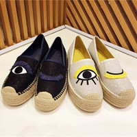 2019 New Arrival Lady Star Runway Platform Shoes Women Flats Slip On Women Loafers Sapato Feminino Brand Hot Women Espadrilles