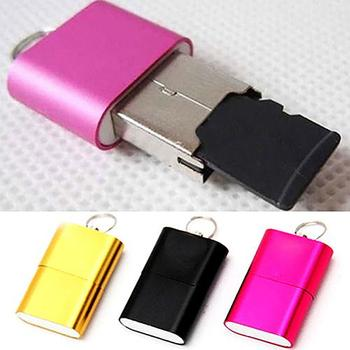 цена на Portable Mini USB 2.0 Micro SD TF T-Flash Memory Card Reader Adapter Flash Drive SD Flash Memory Wholesale