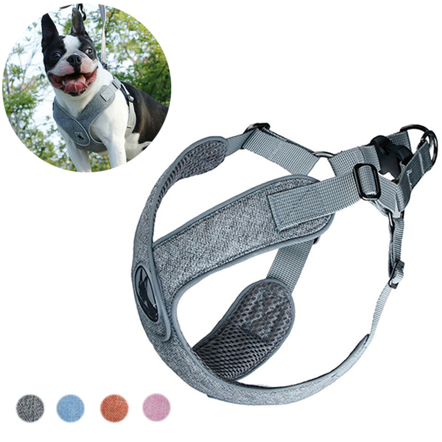 Breathable Dog Vest Harness Leash Reflective Pet Harnesses for Small Medium Dogs Soft Puppy Chest Strap Leads Pets Accessories