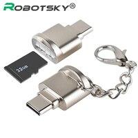 Bilgisayar ve Ofis'ten Kart Okuyucular'de USB 3.1 Tip C kart okuyucu USB C TF Micro SD OTG Adaptörü Tip c Hafıza kart okuyucu Için Samsung Macbook Huawei leTV