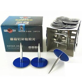 24pcs Tyre Puncture Repair Wired 6mm Plug Patch Mushroom Car Van Quad Trike tubeless tire repair kit