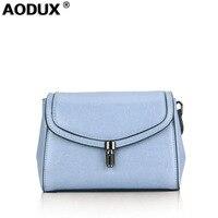 AODUX 2018 Spring 10 Colors Fashion Designer Genuine Leather Women Small Shoulder Bag Tote Handbag Ladies