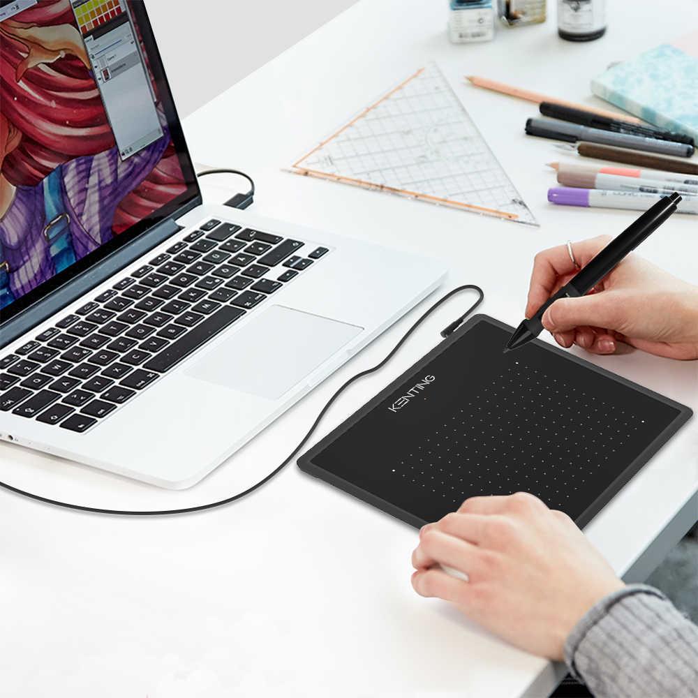 5 אינץ דיגיטלי גרפיקה ציור Tablet Kenting K5540 4096 רמות מיקרו USB עט טבליות OSU חתימה Pad עבור Windows macOS