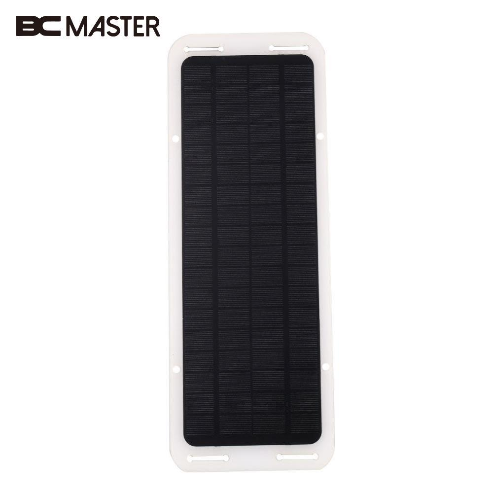 BCMaster 12V 5W USB Output Portable Solar Panel Charger Solar Power Bank For Car with Car Charger Cable Clip