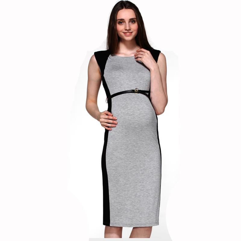 2016 NEW maternity dress sleeveless cotton summer bodycon clothes for pregnant women wear Vestidos Plus Size gestantes roupas