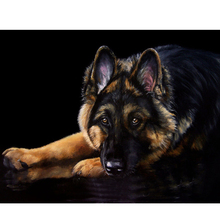 Shepherd dog diamond Embroidery diy painting mosaic diamant 3d cross stitch pictures H804