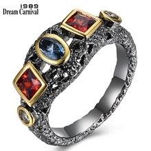 Dreamcarnival 1989 неоготическое кольцо для женщин красные синие