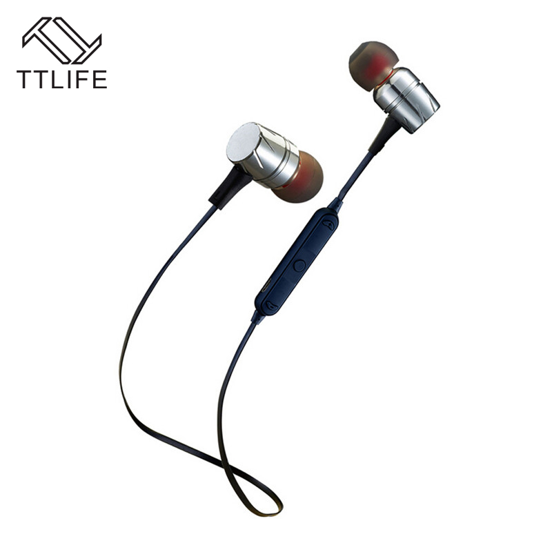 TTLIFE Sports Bluetooth Earphone Ear Hook Wireless Earbuds Stereo Sweatproof Magnetic Design Headset With Noise Reduction HD Mic ttlife bluetooth earphone