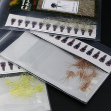 60pcs/set Mayfly nymph rubber body with thin skin stickers fly fishing artificial nymph flies fly tying rubber materials wet fly