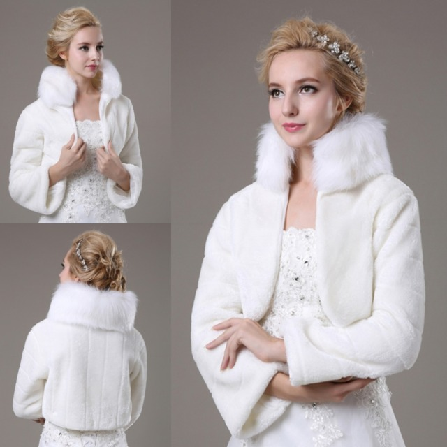 a - vestidos de novia con abrigo