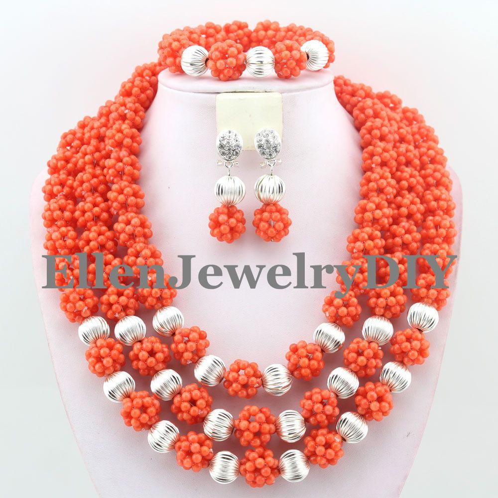 Perfect Design Nigerian Wedding party  African  Crystal Balls  Jewelry Sets African Beads Jewelry Sets W9394Perfect Design Nigerian Wedding party  African  Crystal Balls  Jewelry Sets African Beads Jewelry Sets W9394