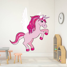 Magical Unicorn Horse Animal Switch Stickers Cartoon Removable Waterproof Wall Sticker Self Adhesive Wallpaper Home Decor