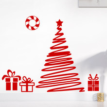 merry christmas tree wall stickers christian for home decoration diy shop window glass vinyl festival mural art xmas gifts decal - Christian Christmas Decorations