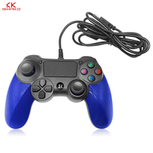 лучшая цена Wired Game controller for PS4 Controller for Sony Playstation 4 for DualShock Vibration Joystick Gamepads for Play Station 4