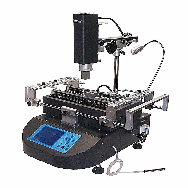 Honton bga máquina Estação de Retrabalho HT R490 com controle de temperatura independente e reballing stencils Pinças escova caneta