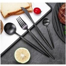4Pcs/Set Gold Cutlery Set 304 Stainless Steel Dinnerware Tableware Dinner Knife and Fork for Restaurant / Party/ Wedding