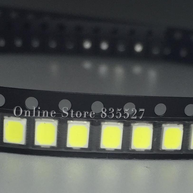 200PCS/LOT 2835 SMD Pure White / Natural  White / Warm White / Cool White LED 23-25LM  Bright Lamp Beads Light Emitting Diode