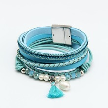 ZG2018 New Arrival Hot Sale Wedding Jewelry Natural Freshwater Pearl Bracelet Vintage Tibetan Charm Dangle Bracelets