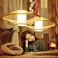 Vintage LED Anhänger Lampen Südost Asiatischen Hand Gestrickte LED Anhänger Lichter Restaurant Leuchte Hängen Lampe Schlafzimmer Hängen Lampe-in Pendelleuchten aus Licht & Beleuchtung bei