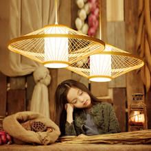 Vintage LED Pendant Lamps Southeast Asian Hand Knitted Lights Restaurant Luminaire Hanging Lamp Bedroom