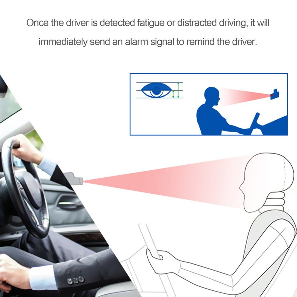 Practical Fatigue Monitor Driving Alarm System Fatigue High-Tech Pupil Identification Image Sensor Real Time Warning Device