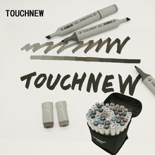 Touchnew Art Marker Double-Ended Alcohol Based Ink Neutral Gray Color Sketch Gray Tones