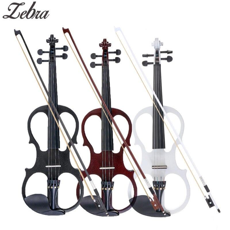 4/4 Elettrica Acustica Violino Tiglio Violino con Custodia Del Violino Della Copertura Dell'arco per Strumento A Corde Musicale Amanti Principianti