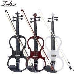4/4 violino acústico elétrico basswood violino com violino caso capa arco para musical cordas instrumento amantes iniciantes