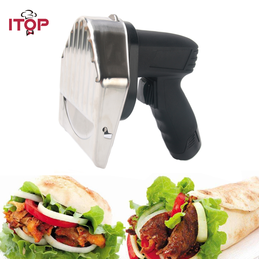Electric Kitchen Knife Doner Kebab Knife Meat Slicer Shawarma Cutter UL PLUG EURO PLUG itop electric shawarma cutter slicer knife gyro doner kebab slicer meat carver machine knife blade