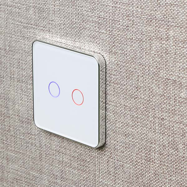 Image 2 - Jiubei White Crystal Glass Switch Panel,touch switch, EU Standard, 2 Gang 1 Way Switch, switch touch, C702 11/12/13-in Switches from Lights & Lighting