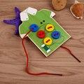 Деревянные Игрушки Малыша Пришивать Пуговицы Для Детей Дети Детские Младенческой