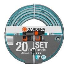 Шланг поливочный GARDENA 18004-20.000.00 (Длина 20 м, диаметр 13мм (1/2), максимальное давление 22 бар светонепроницаем, устойчив к ультрафиолетовому излучению, армированный)