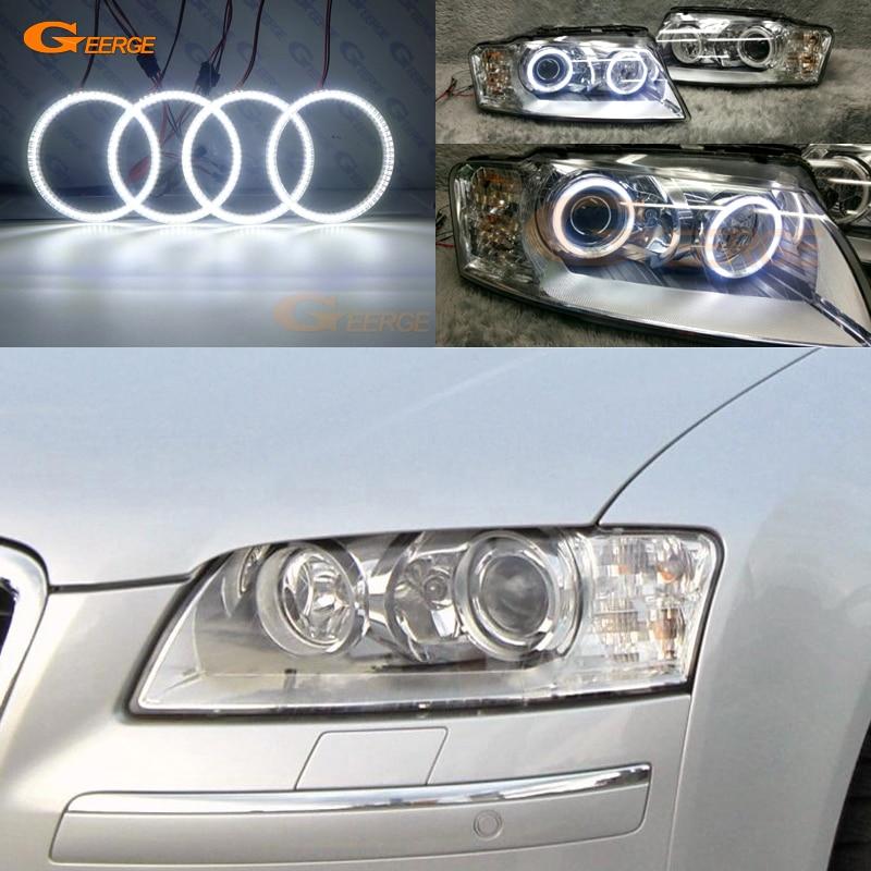 Pour Audi A8 S8 2004 2005 2006 2007 2008 2009 Excellent éclairage Ultra lumineux smd led Angel Eyes kit DRL